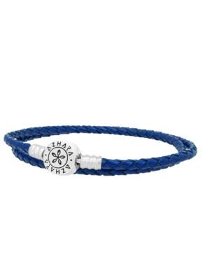 Pulsera Azul Trenzada Doble (lado)